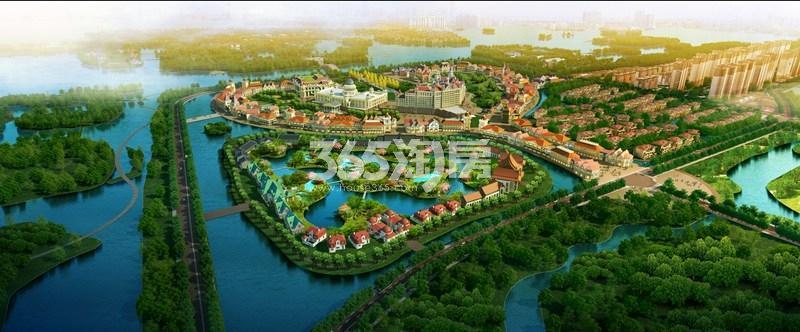 恒大潘安湖生态小镇效果图10