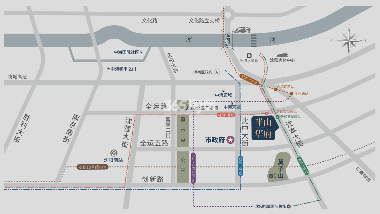 中海半山华府交通图