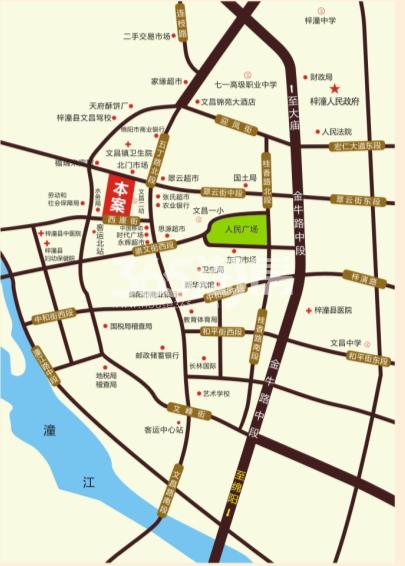 浩鑫金座交通图
