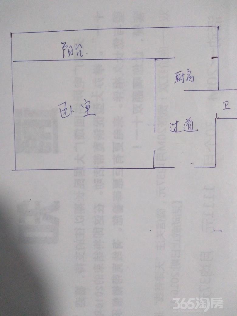 煤建三厂宿舍1室1厅1卫21.38平米1996年使用权房毛坯