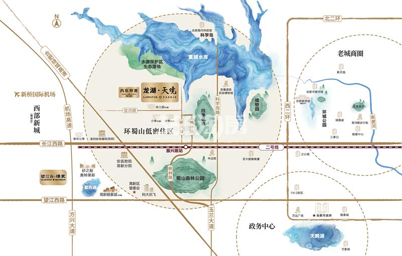 龙湖天境交通图