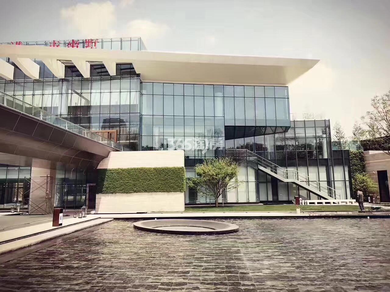 京奥港未来墅售楼处景观实景图(12.26)