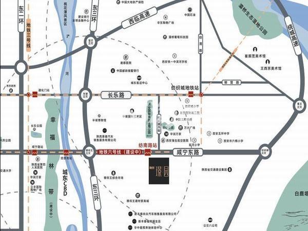 融创璟园交通图