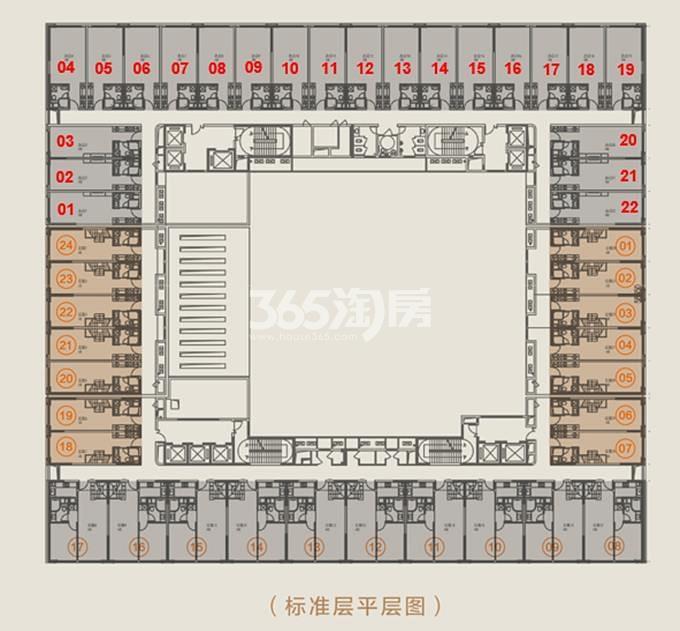 中海滨江U-BOX标准层平层图