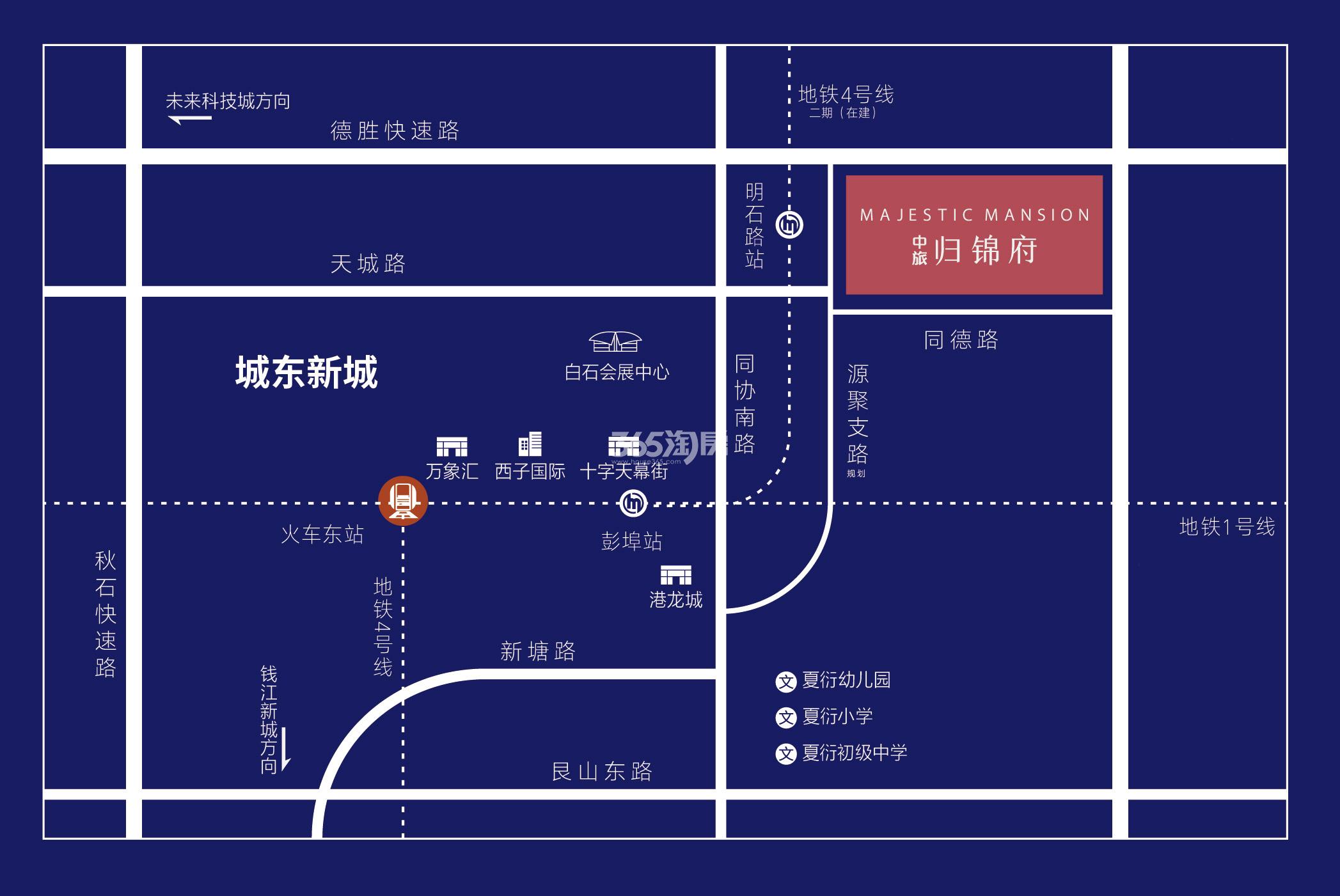 中旅归锦府交通图