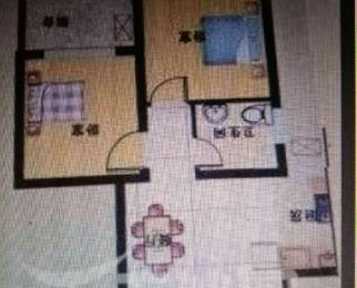 新元金沙家园2室1厅1卫60平米整租简装