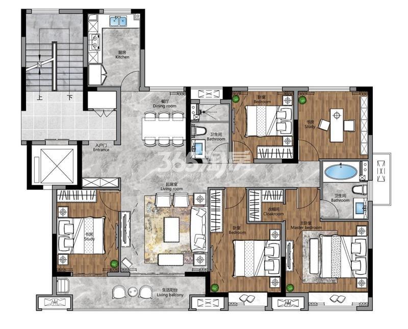 梧桐公馆143㎡五室两厅两卫