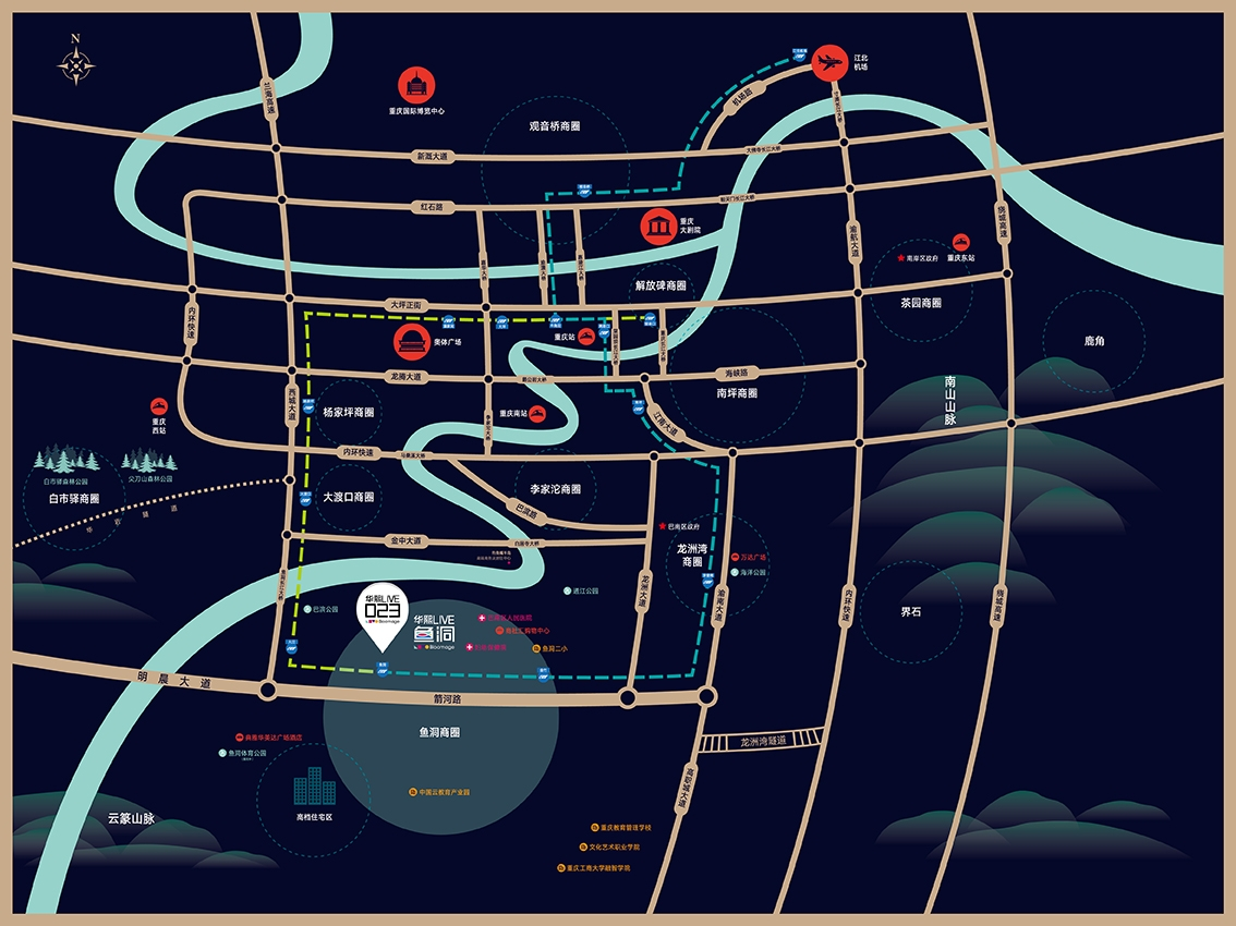 华熙LIVE·023交通图