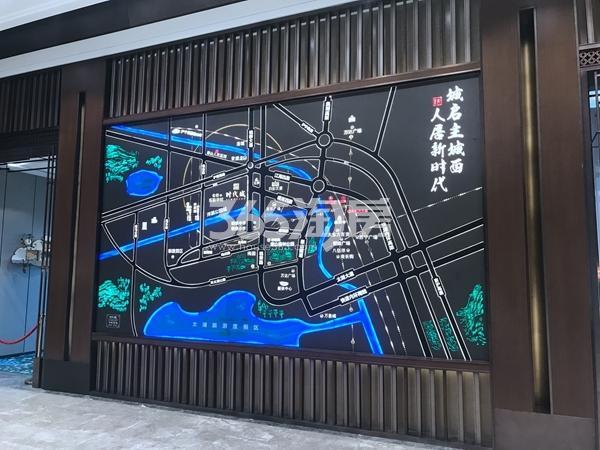 时代城营销中心区位图实景(2018.5)