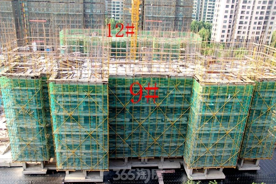 城市之光9#、12#楼工程进度图(2018.5摄)