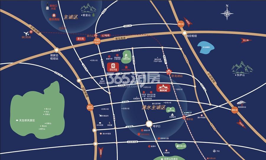 橡树城交通图