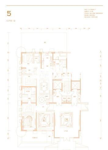 紫楹台5号楼C1户型8室5厅10卫2厨783.99㎡