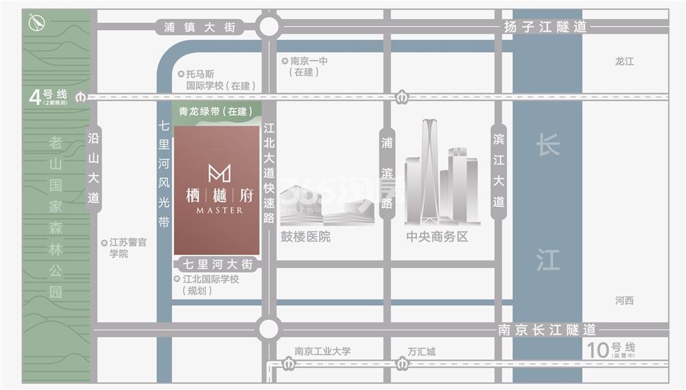 栖樾府交通图