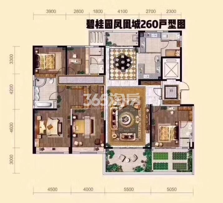 碧桂园凤凰城260平米户型图