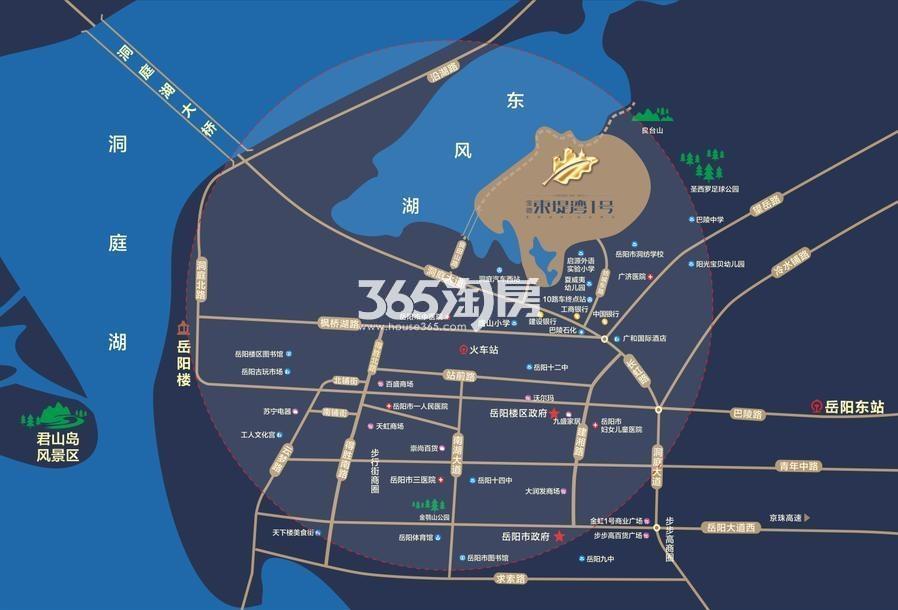 宝德·东堤湾1号交通图