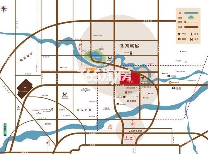 隆基泰和万和郡交通图