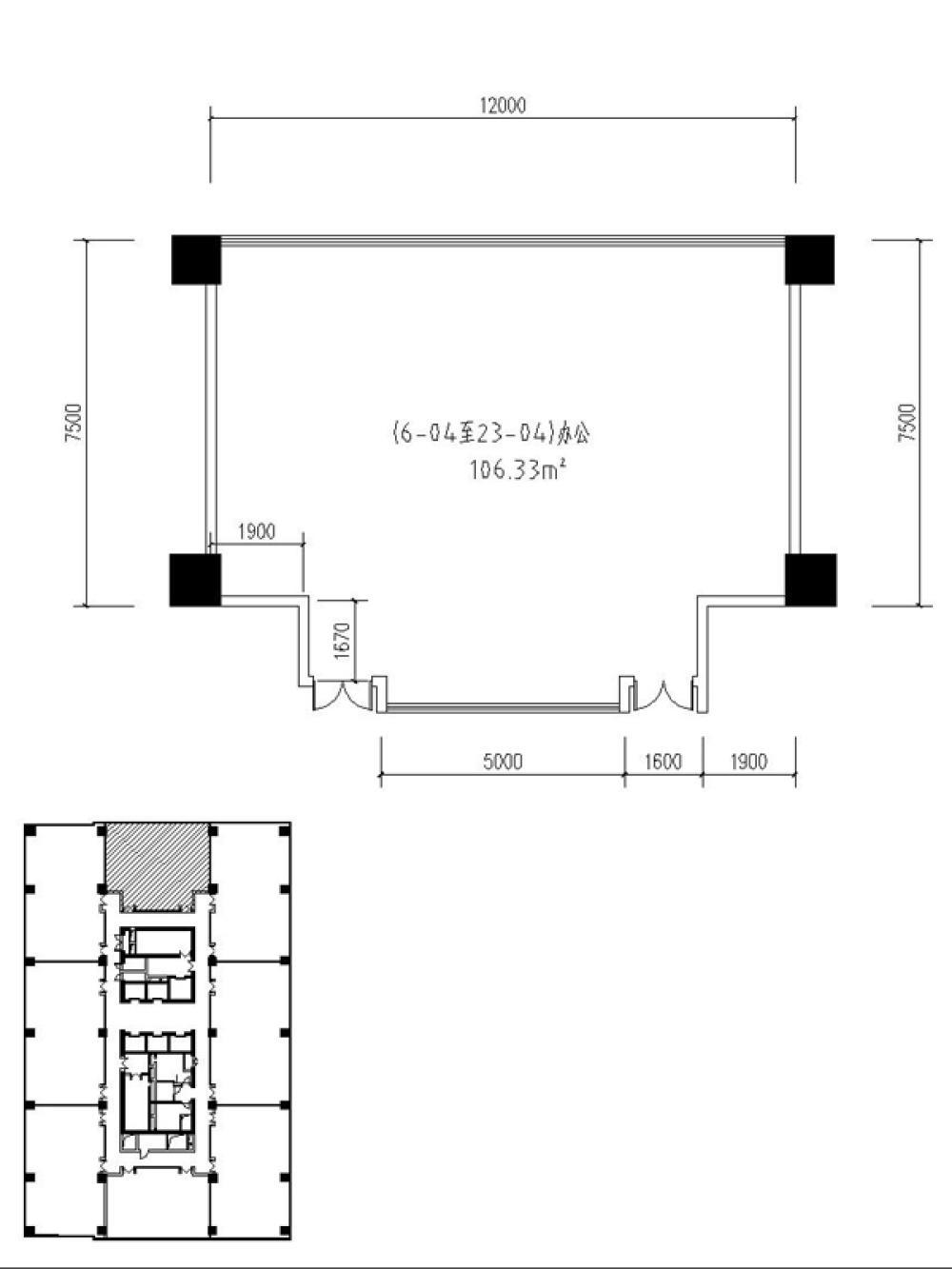 兰基国际公寓1室1卫户型图150.50㎡