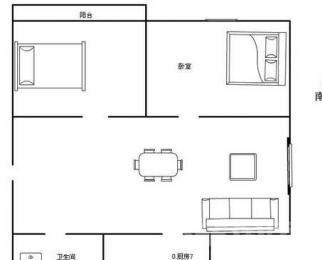 <font color=red>明月新寓</font>2室2厅1卫85平米精装整租