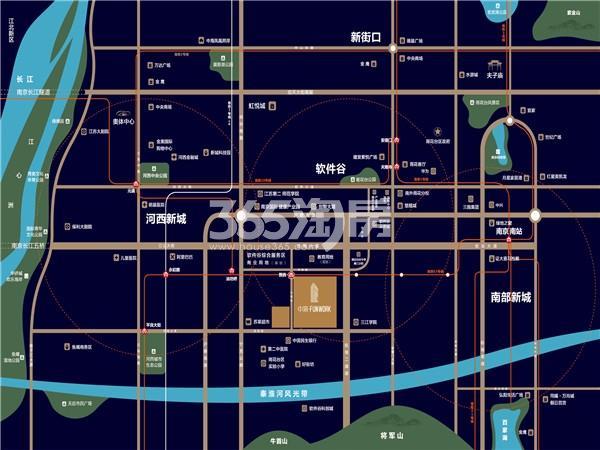 中海FUNWORK交通图
