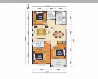 旭日上城3室2厅1卫129平方米338万元