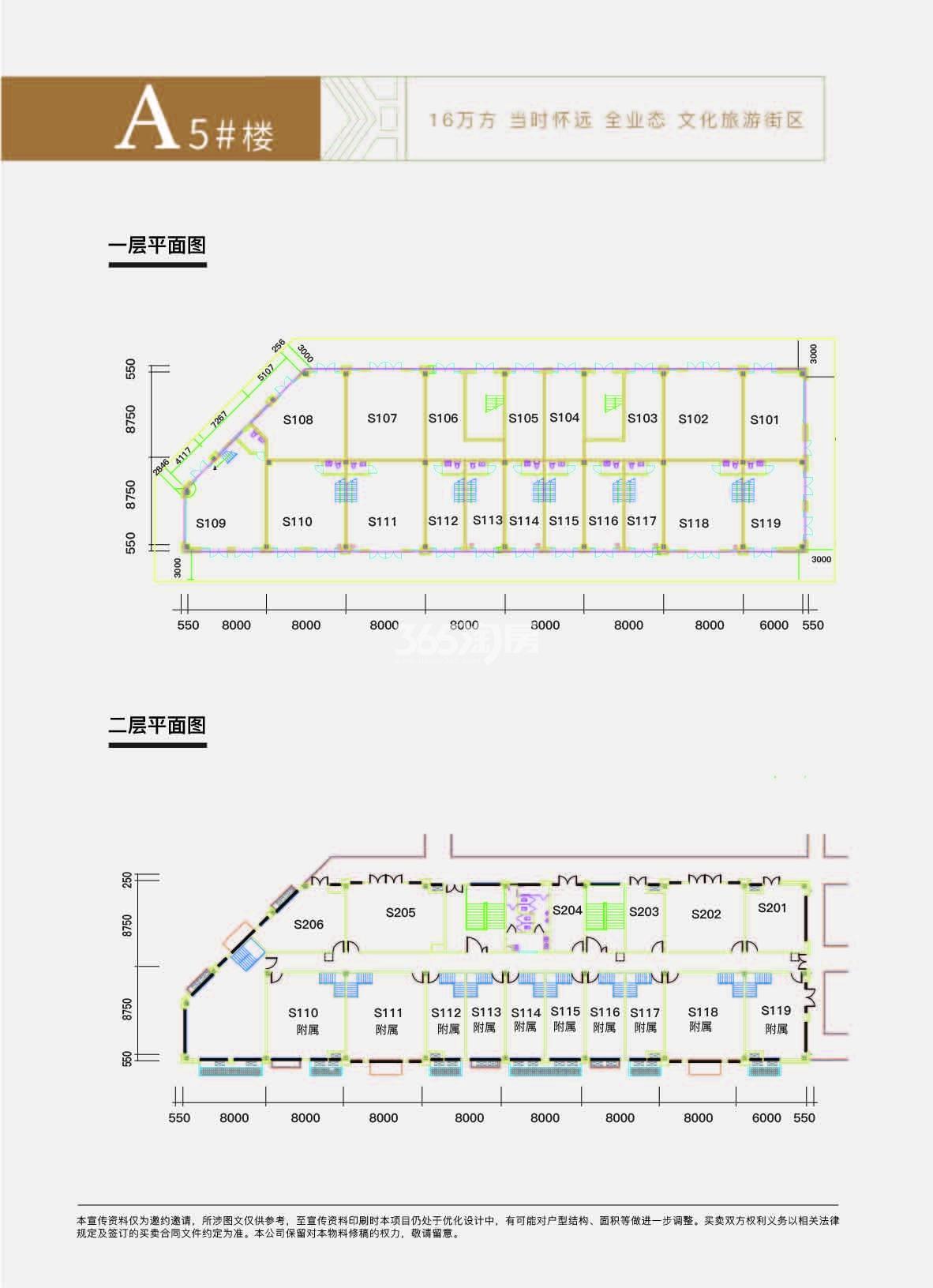 大禹九州里 A5#楼商铺楼整栋户型