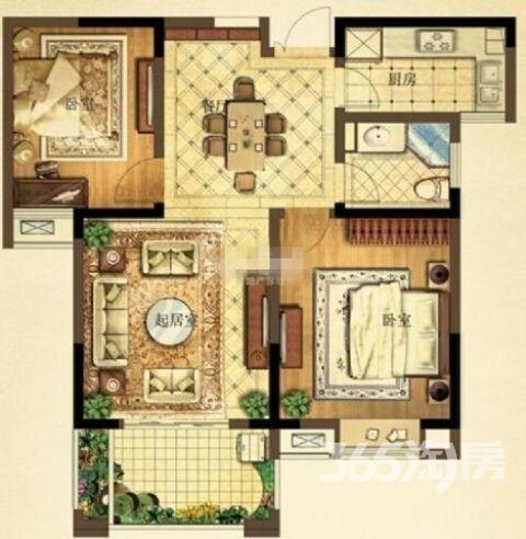江月府2室2厅1卫87平方产权房简装