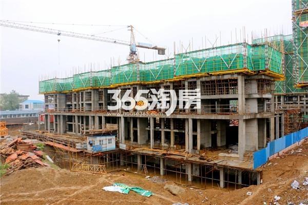 信达蓝湖郡16#楼工程进度(2016年10月摄)