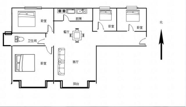 中南世纪城二4室2厅1卫117平米2012年产权房精装