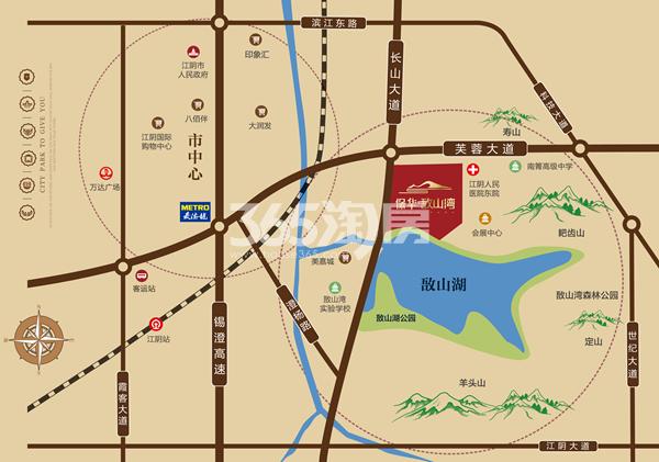 保华敔山湾交通图
