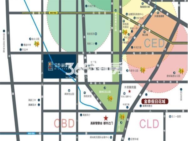 金泰新理城交通图
