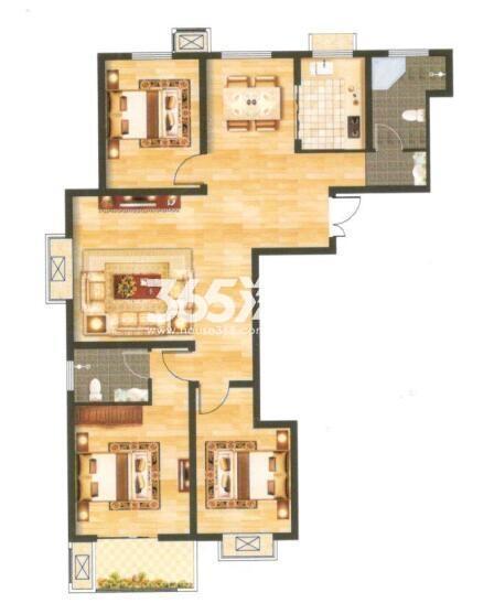 12A 建筑面积约134.54㎡ 三室两厅两卫