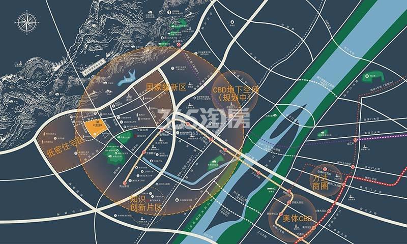 金隅紫京叠院区位图