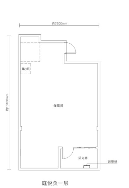万科悦湾167㎡复式洋房负一层户型图