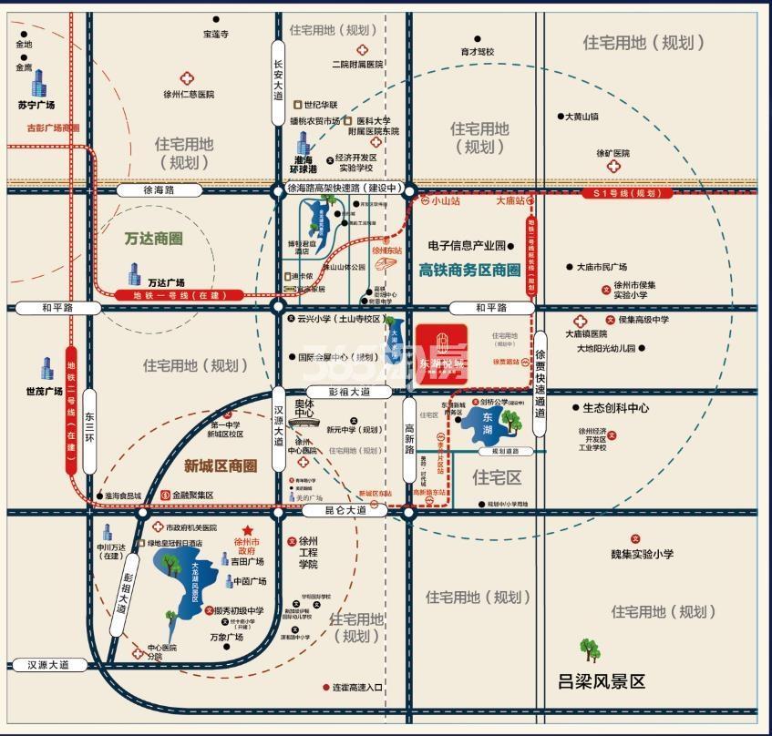 东湖悦府交通图