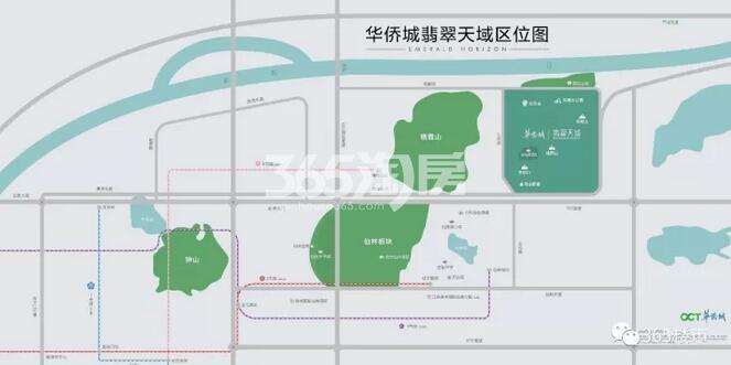 华侨城翡翠天域交通图