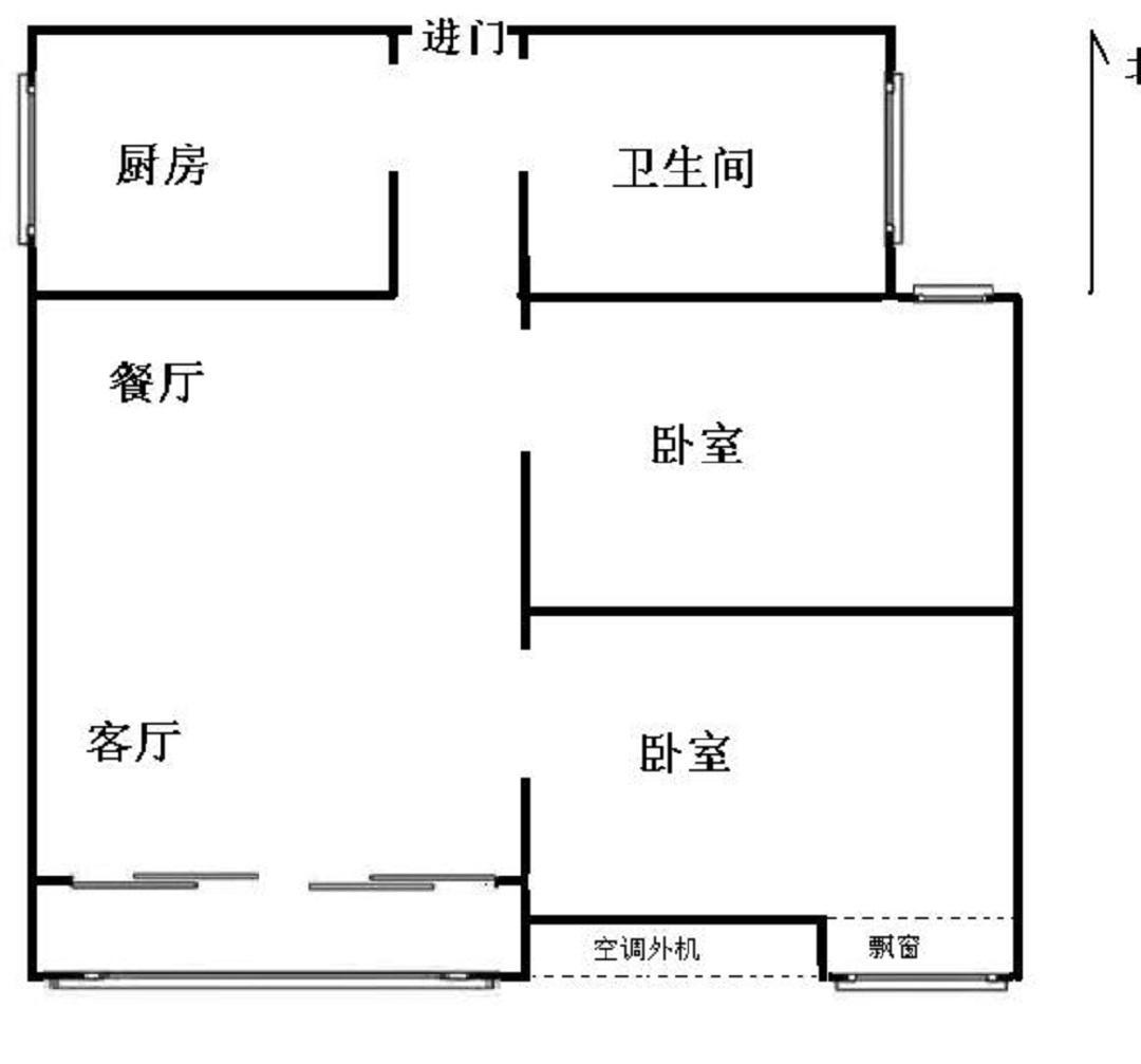 栖霞区迈皋桥凤来南园2室1厅户型图