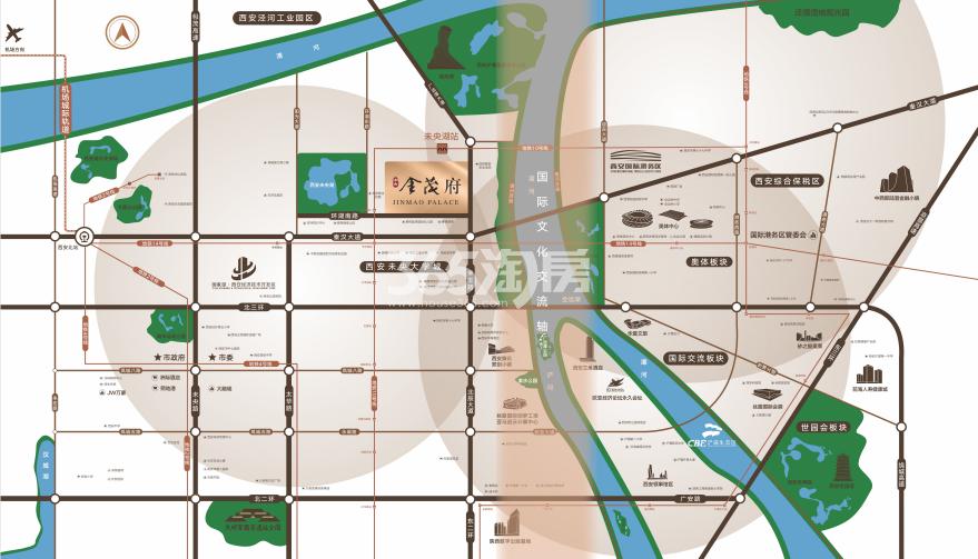 未央金茂府交通图