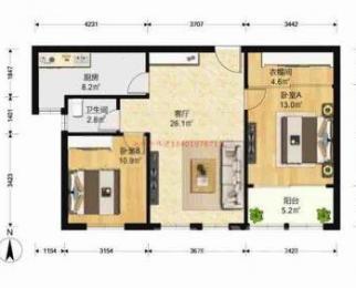 琥珀森林2室2厅0卫86平米精装产权房2015年建