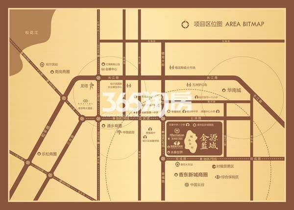 金源蓝城交通图