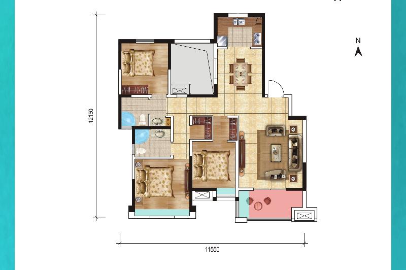 A4 (三室两厅双卫)