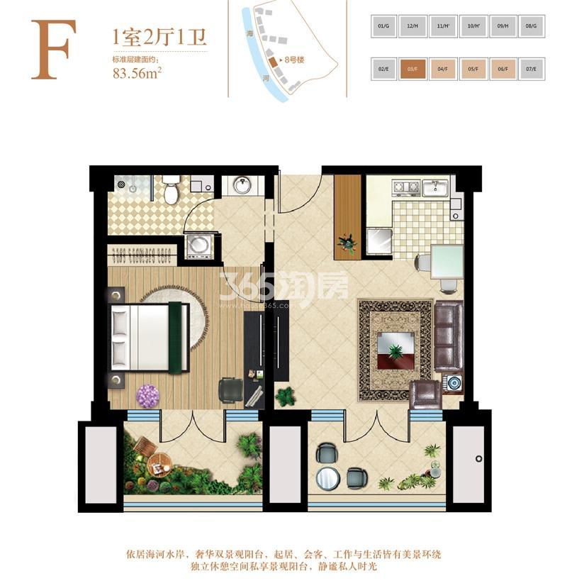 公寓F户型 83.56平米