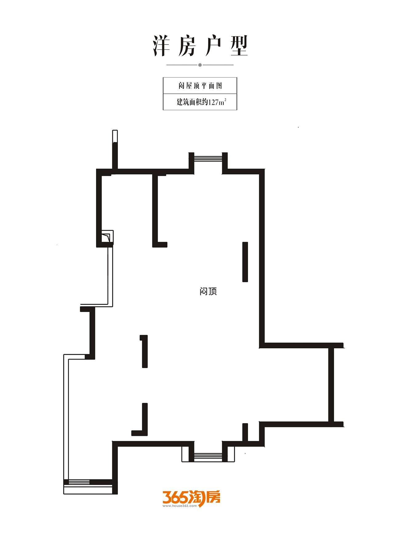 金科半岛壹号洋房闷屋顶127㎡平面图