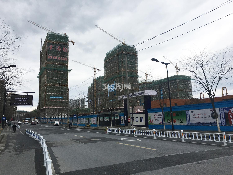 2018年2月28日隐秀路上远拍首开杭州金茂府局部