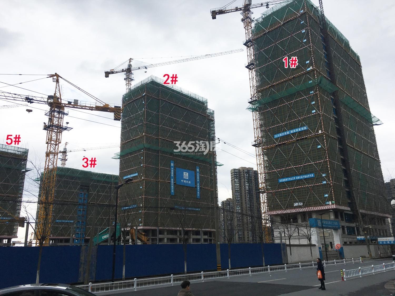 2018年2月28日首开杭州金茂府高层1-3、5号楼实景