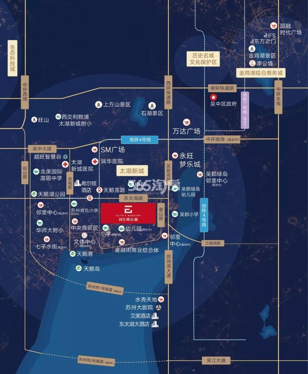 江南沄著交通图