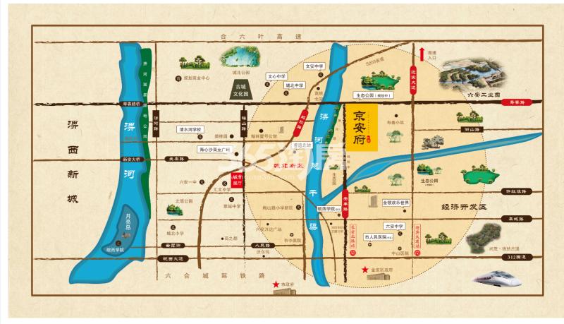帝景·京安府交通图