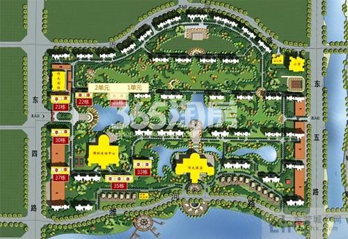 恒大黄河生态城鸟瞰图