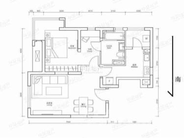 海河华鼎2室1厅1卫92平米精装产权房2014年建满五年