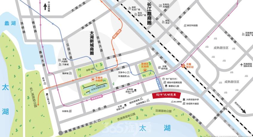 远洋·太湖宸章交通图