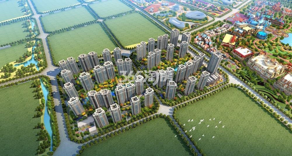 新滨湖恒大文化旅游城鸟瞰图